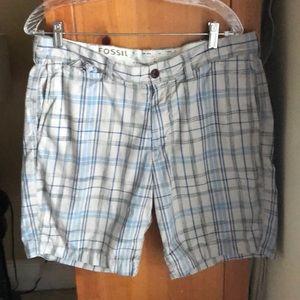Men's Fossil Plaid Shorts